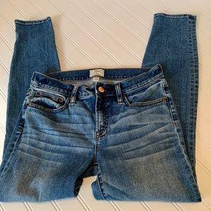 EUC 27 J Crew Toothpick Jeans